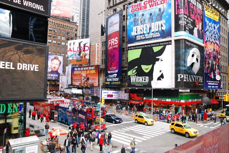 Times Square de New York City Manhattan images libres de droits