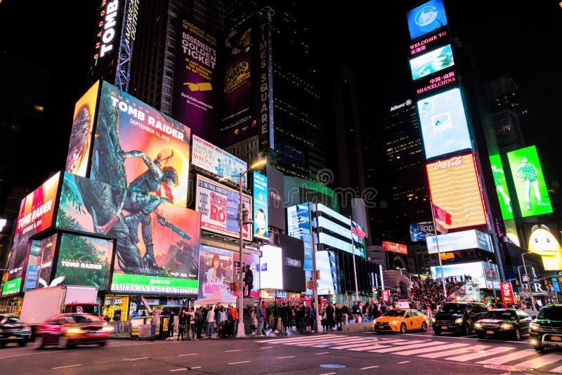 Times Square de Stad in van Manhattan, New York, de V.S. stock afbeelding