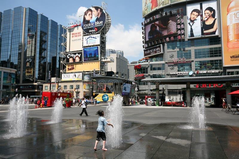Times Square de Toronto fotografia de stock royalty free