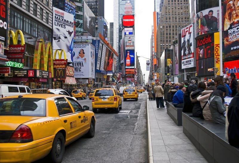 Times Square del tráfico imagen de archivo libre de regalías