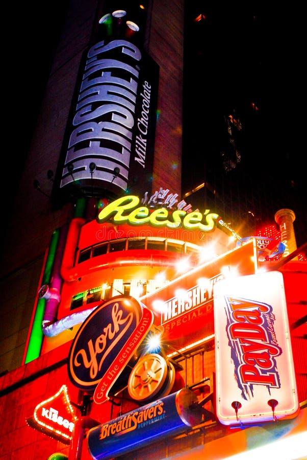 Times Square della memoria del Hershey, NYC fotografia stock