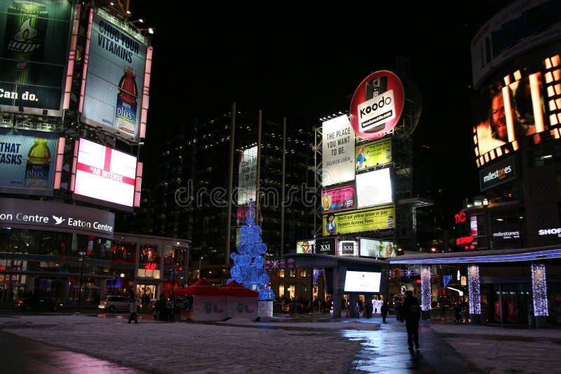 Times Square di Toronto fotografie stock libere da diritti