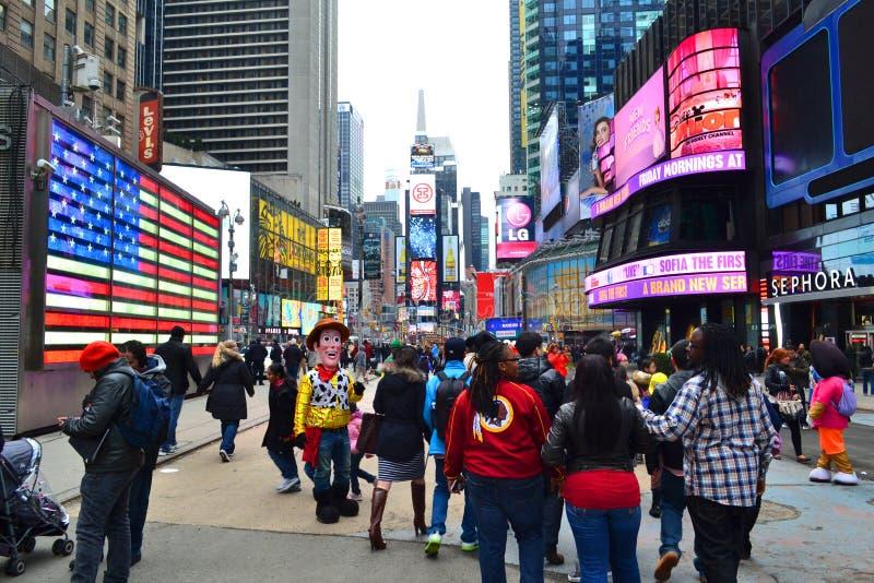 Times Square em New York City, NY EUA imagens de stock