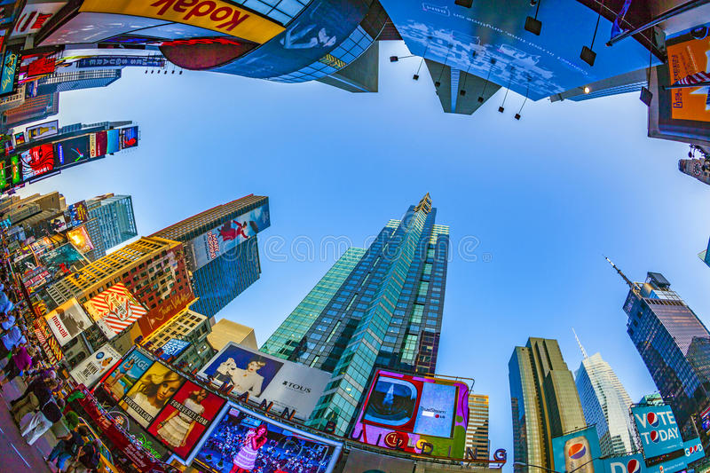 Times Square, featured with Broadway Theaters and huge number of LED signs, is a symbol of New York City stock photo
