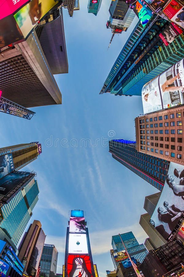 Times Square, featured with Broadway Theaters. NEW YORK, USA - OCT 21, 2015: Times Square, featured with Broadway Theaters and huge number of LED signs, is a stock image