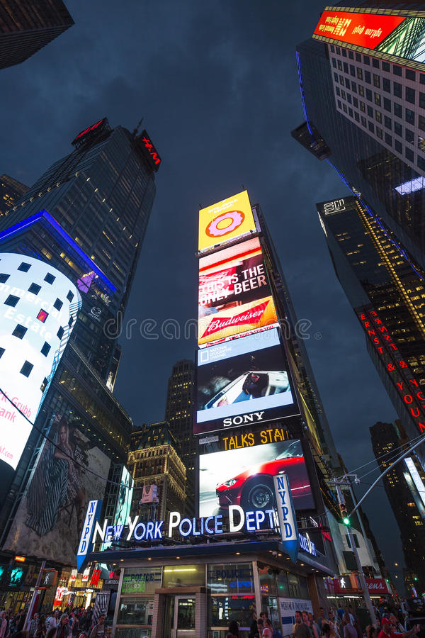 Times Square, featured with Broadway Theaters royalty free stock photo