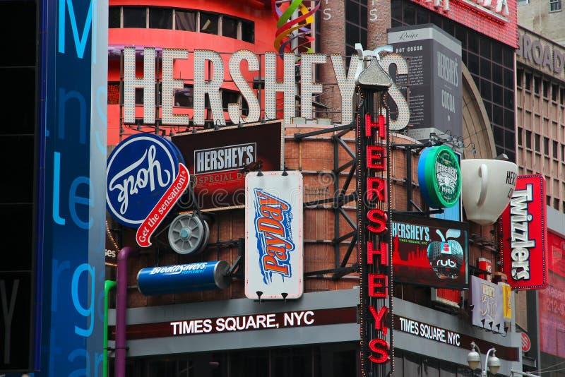 Times Square Hersheys foto de stock royalty free