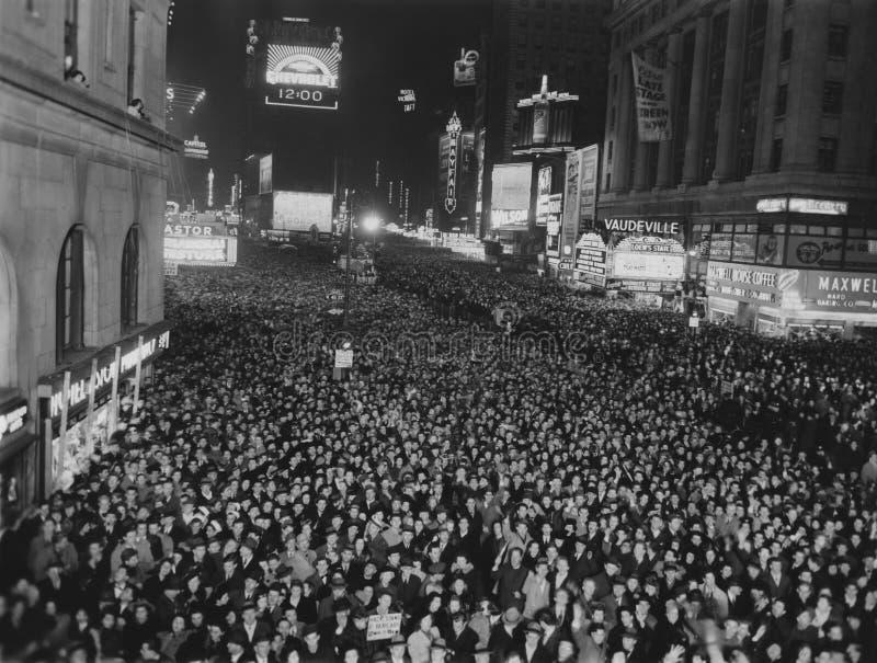 Times Square imballato inceppamento, New York fotografie stock libere da diritti