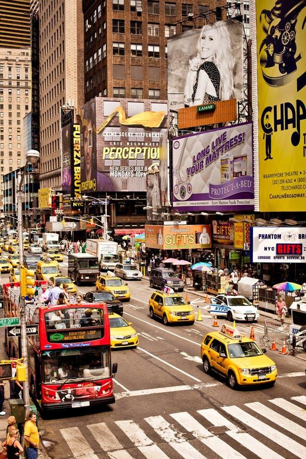Times Square ist ein iconicplace von New York City stockbilder