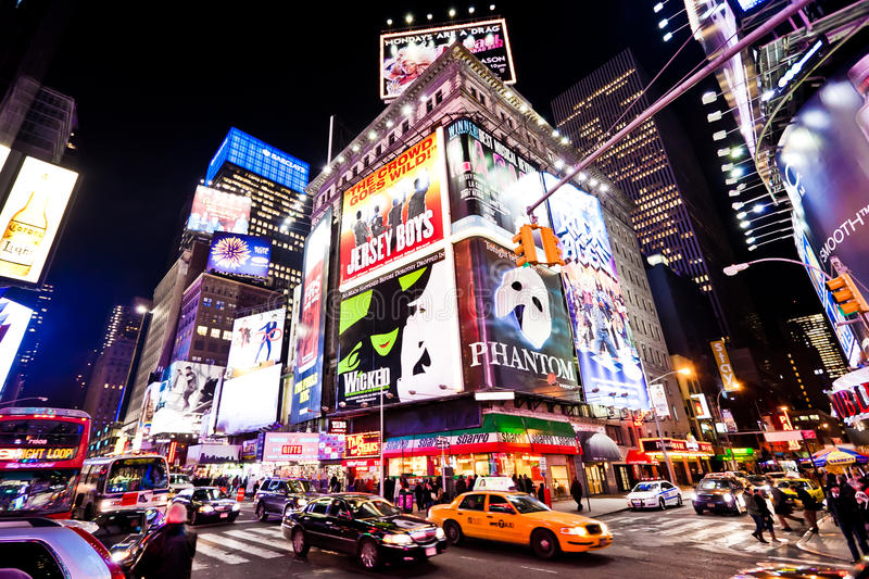 Times Square la nuit image libre de droits