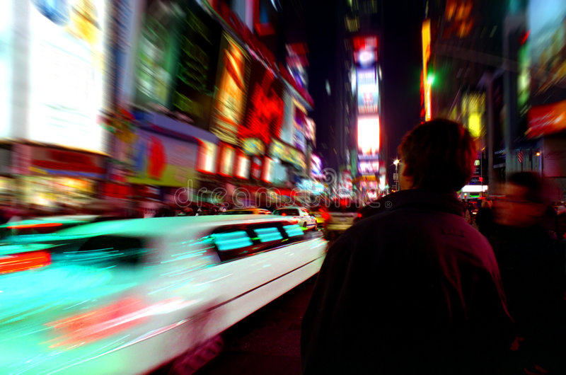 Times Square Limo New York royalty free stock photography