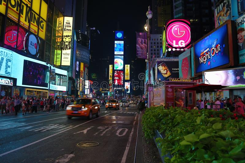 Times Square Manhattan royalty free stock photos