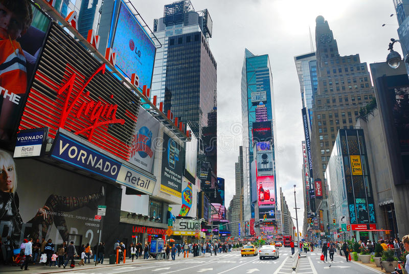 Times Square, Manhattan, New York City stockbilder
