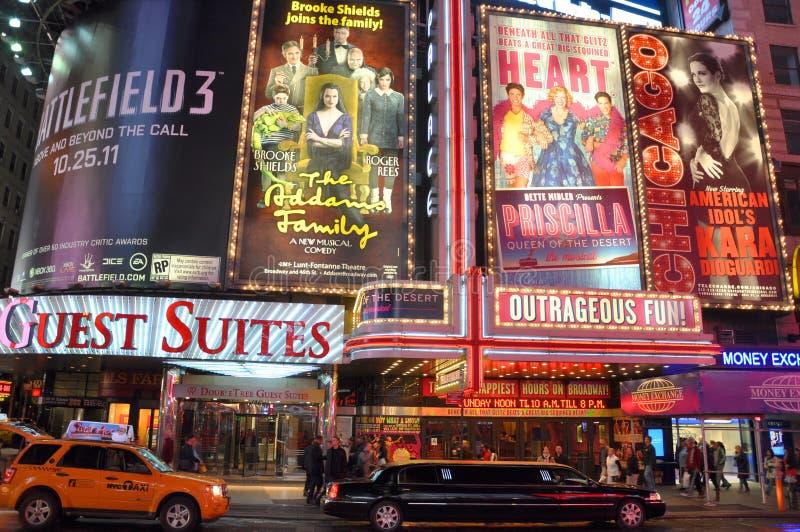 Times Square na noite, New York City imagens de stock royalty free