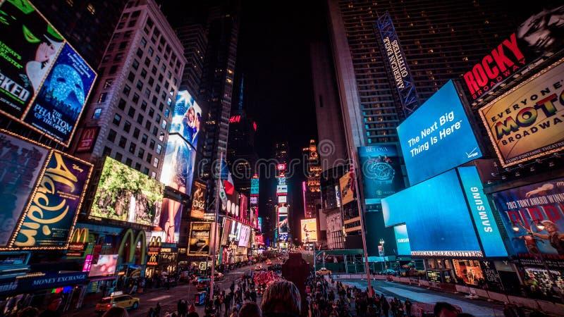 Times Square nachts stockfoto