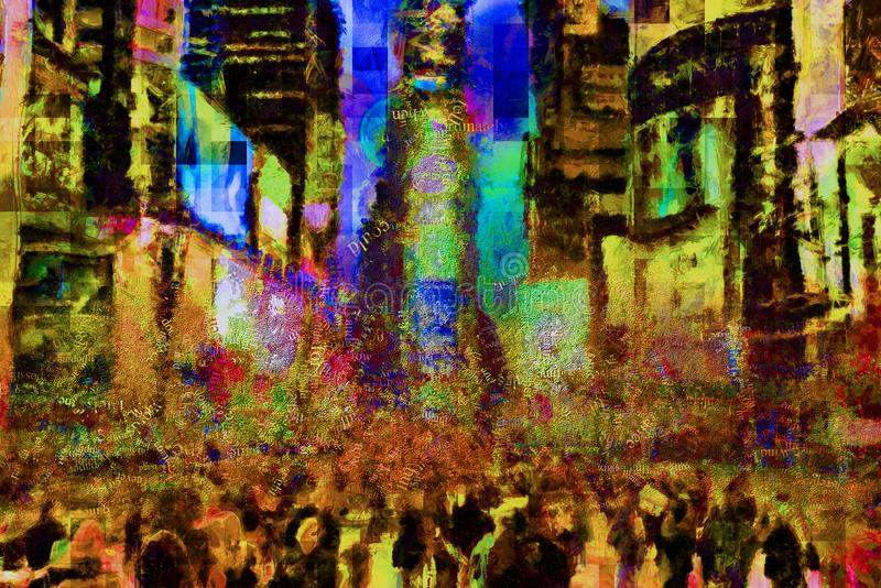 Times Square New York stock abbildung
