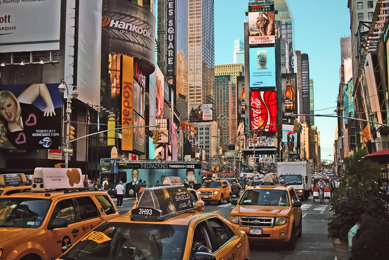 Times Square New York arkivbild