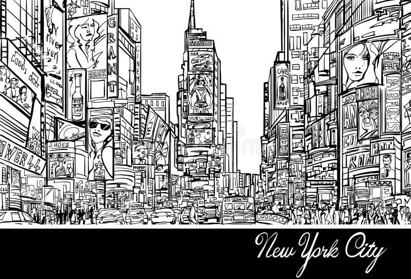 Times Square a New York illustrazione di stock
