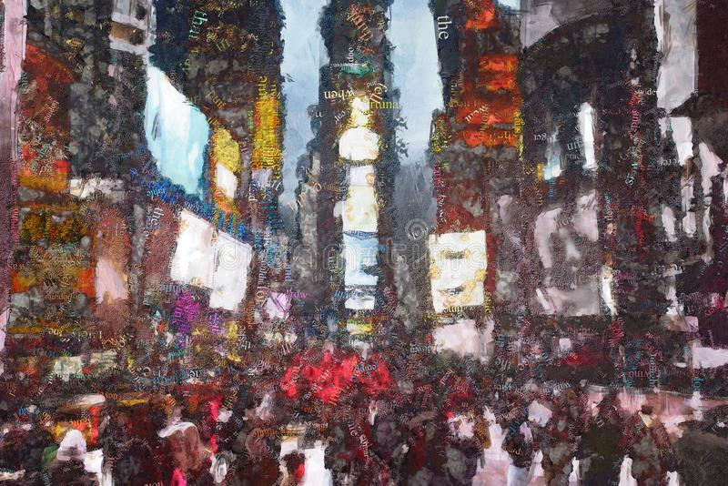 Times Square New York lizenzfreie abbildung