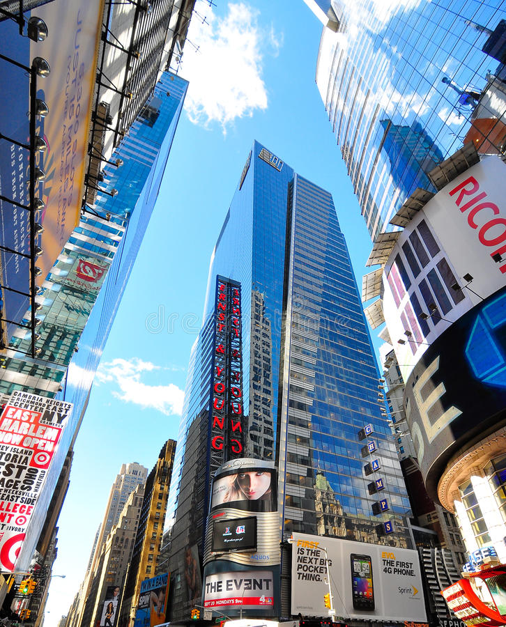Download Times square new york city editorial stock image. Image of life - 16112474