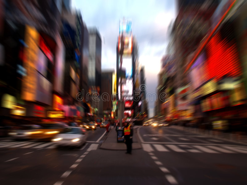 Times Square in New York City. NY times square at night in New York City stock images