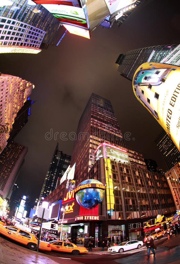 Times Square. New York City. NEW YORK CITY - OCT 10: Times Square, featured with Broadway Theaters and huge number of LED signs, is a symbol of New York City and stock photography
