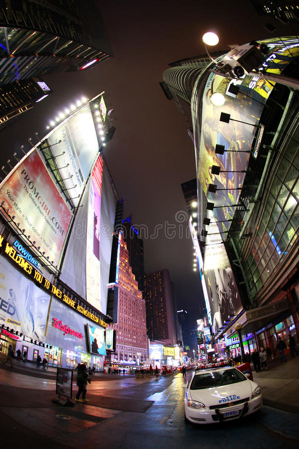 Times Square. New York City. NEW YORK CITY - OCT 10: Times Square, featured with Broadway Theaters and huge number of LED signs, is a symbol of New York City and stock photo