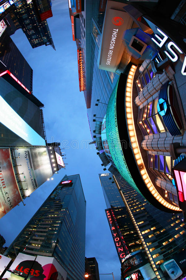 Times Square. New York City. NEW YORK CITY - OCT 9: Times Square, featured with Broadway Theaters and huge number of LED signs, is a symbol of New York City and royalty free stock photos
