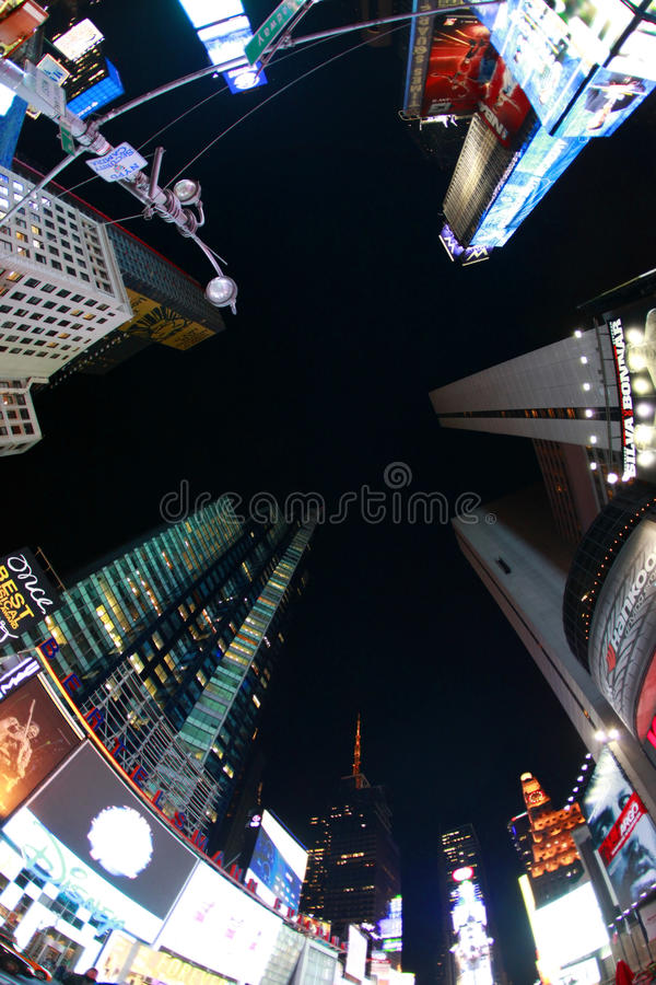 Times Square. New York City. NEW YORK CITY - OCT 10: Times Square, featured with Broadway Theaters and huge number of LED signs, is a symbol of New York City and stock photos
