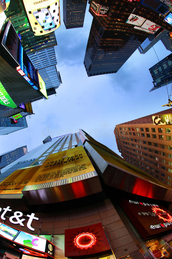 Times Square. New York City. NEW YORK CITY - OCT 9: Times Square, featured with Broadway Theaters and huge number of LED signs, is a symbol of New York City and royalty free stock photography