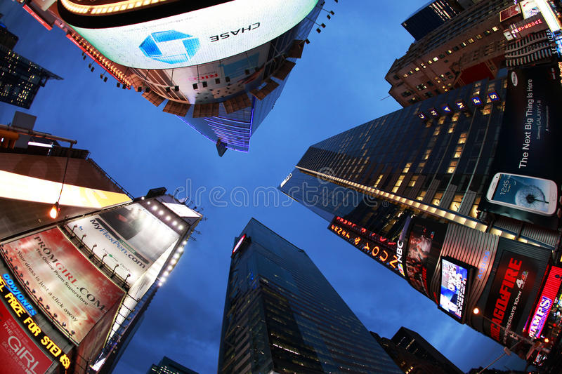 Times Square. New York City. NEW YORK CITY - OCT 9: Times Square, featured with Broadway Theaters and huge number of LED signs, is a symbol of New York City and stock images