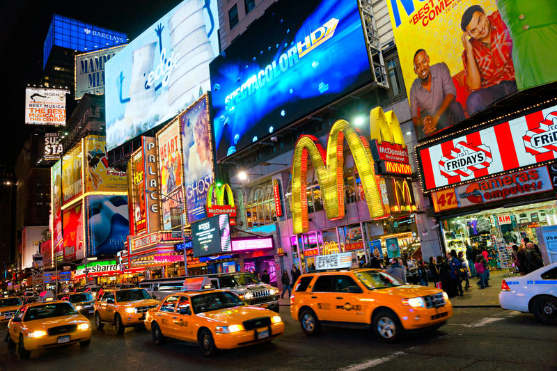 Times Square, New York City, los E.E.U.U. fotografía de archivo