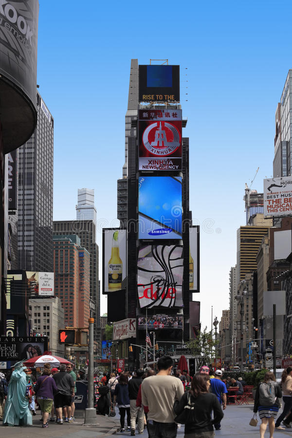 Times Square. New York City. NEW YORK CITY - MAY 17: Times Square, featured with Broadway Theaters and huge number of LED signs, is a symbol of New York City and stock image