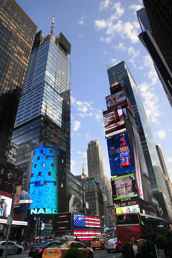 Times Square. New York City. NEW YORK CITY - MAY 16: Times Square, featured with Broadway Theaters and huge number of LED signs, is a symbol of New York City and royalty free stock photo