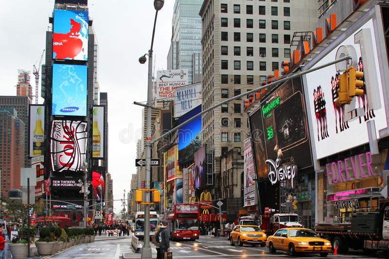 Times Square. New York City. New York, NY, USA - October 09, 2012: Times Square, featured with Broadway Theaters and huge number of LED signs, is a symbol of New royalty free stock image