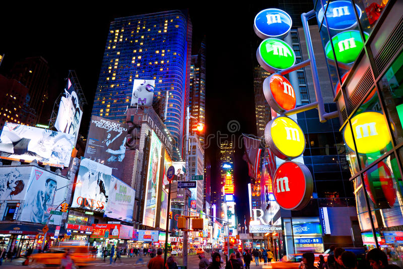 Times Square, New York City, USA. stockfotos