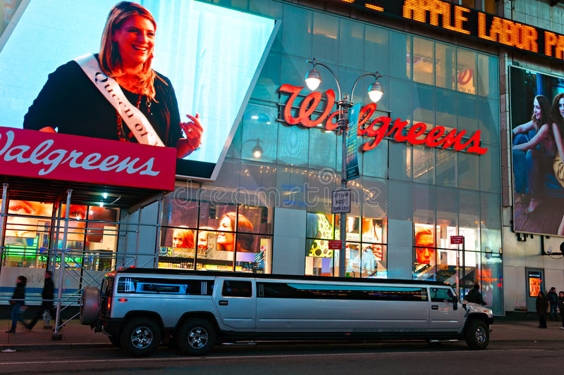 Times Square, New York City, USA. NEW YORK CITY -MARCH 25: Times Square, featured with Broadway Theaters and animated LED signs, is a symbol of New York City royalty free stock photos
