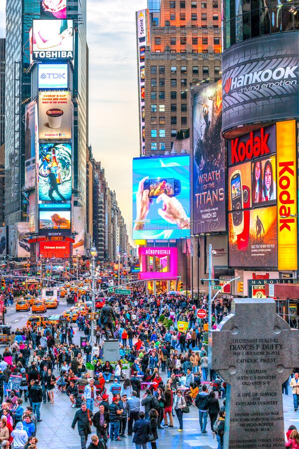 Times Square, New York City, USA royalty free stock image