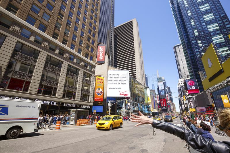 Times Square, New York City, USA. NEW YORK CITY - MAY 24: Times Square, featured with Broadway Theaters and animated LED signs, is a symbol of New York City and royalty free stock photo