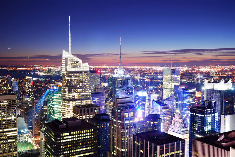 Times Square New- York Citymanhattan stockfotografie