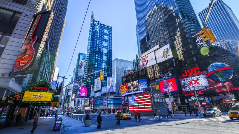 Times Square New York NYC le matin image stock