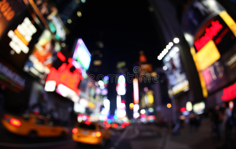 The times square at night royalty free stock photos