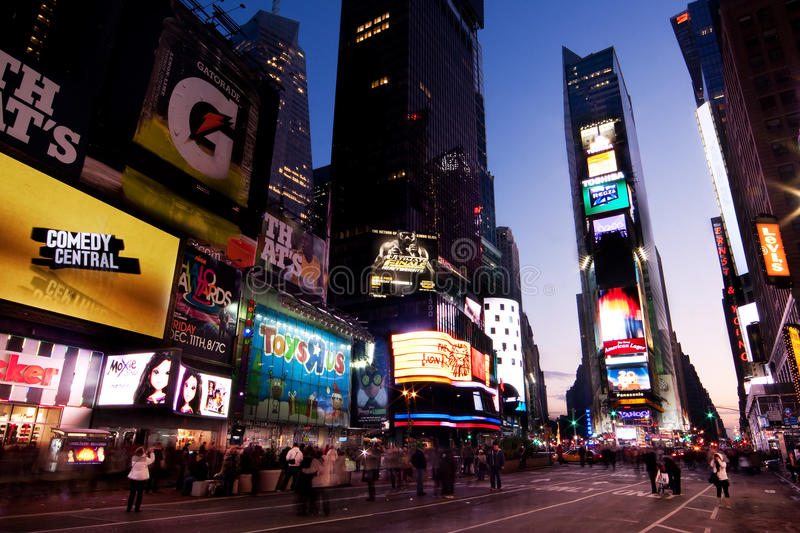 Download Times Square by Night editorial photography. Image of states - 11951822