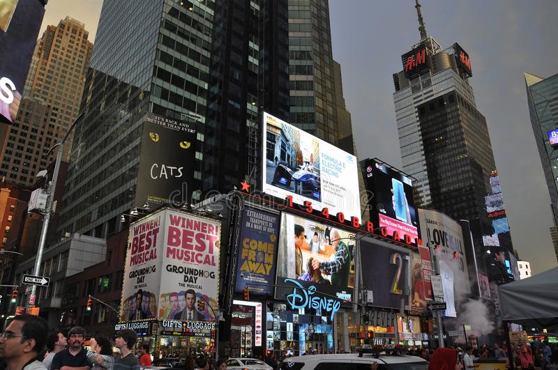 New York City, 3rd July: Times Square by night in Midtown Manhattan from New York City in United States. Times Square by night in Midtown Manhattan from New York royalty free stock images