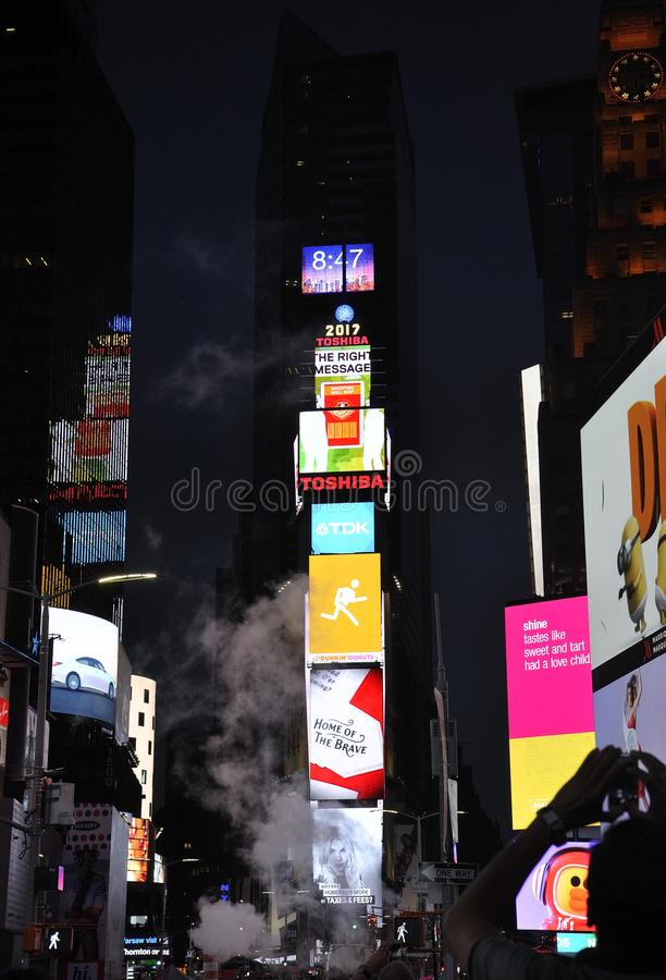 New York City, 3rd July: Times Square by night in Midtown Manhattan from New York City in United States. Times Square by night in Midtown Manhattan from New York stock image