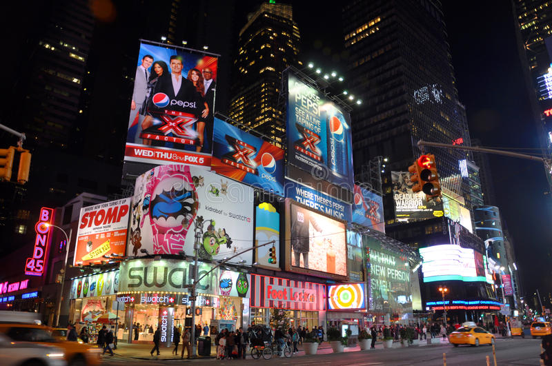 Download Times Square At Night, New York City Editorial Stock Image - Image: 22617119