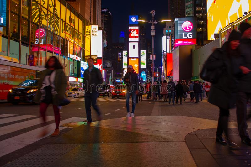 Times Square at night royalty free stock photography