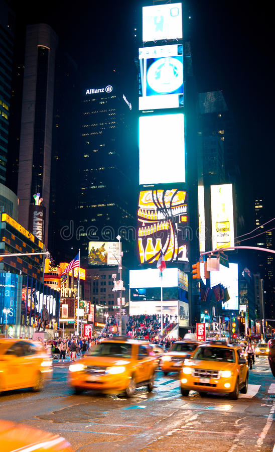 Times Square At Night New York, USA Editorial Photography
