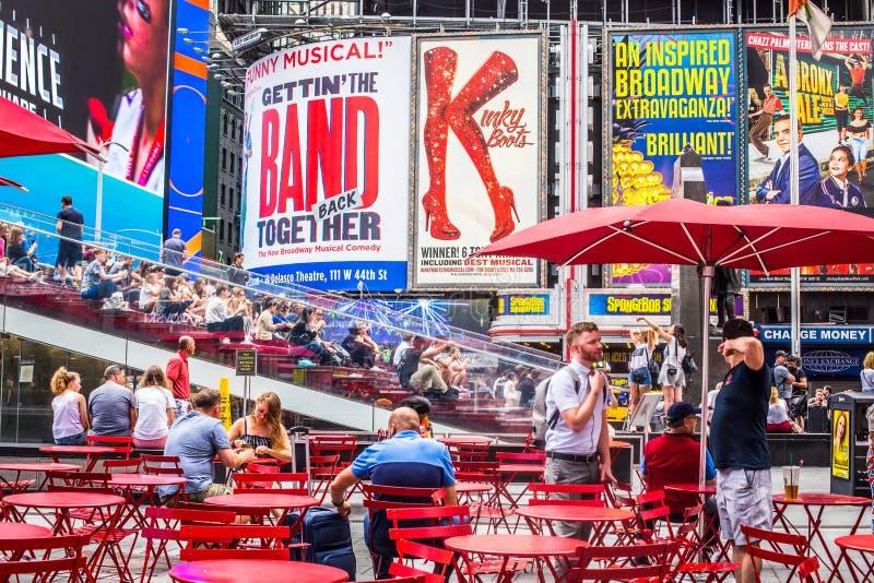 Times Square NYC τη θερινή ημέρα στοκ εικόνες