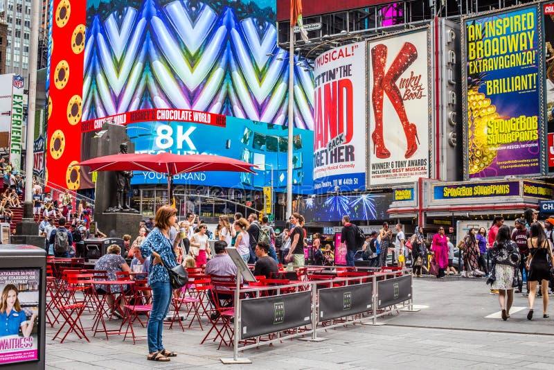 Times Square NYC τη θερινή ημέρα στοκ φωτογραφίες